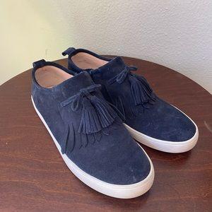 Navy Suede Kate Spade Loafer/Sneakers!